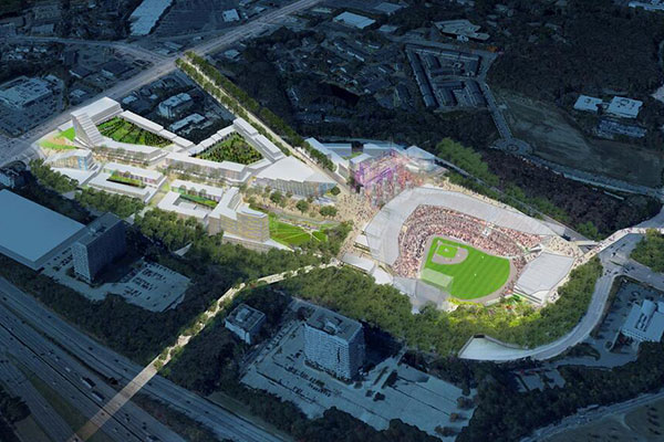 Cobb Co. Stadium Rendering (via Atlanta Braves)