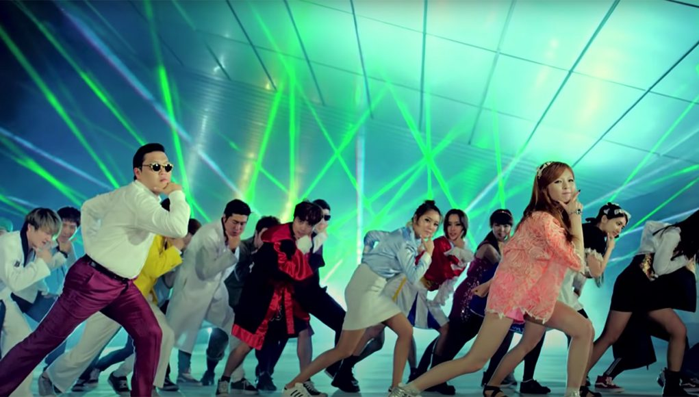 Screen cap from Gangnam Style video by Psy