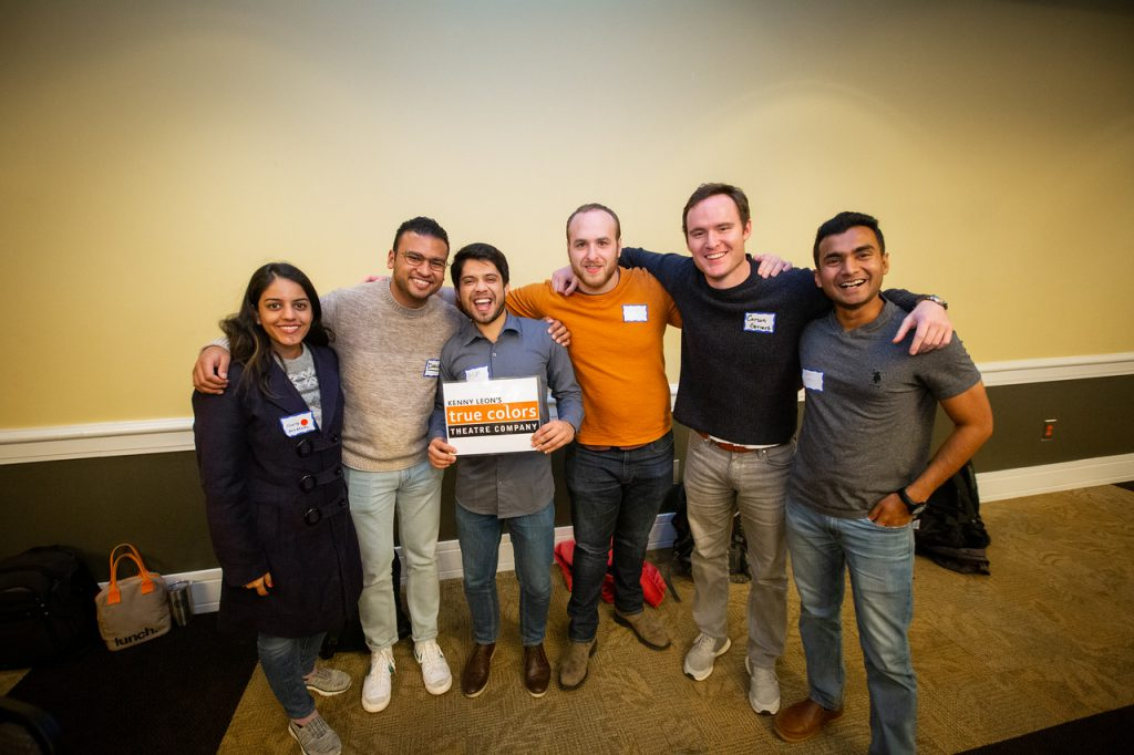 Team True Colors (from left, Ishita Aggarwal, Danni El Tayeb, Asif Ahsan, Jacob Housen, Carson Gernert, and Dhruv Garg). Photo taken December 2019.