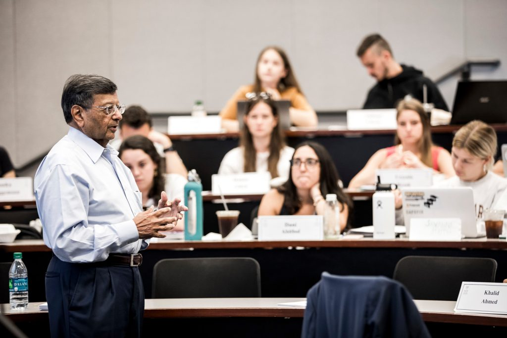 Sheth's teaching prowess spans from undergraduate to executive students.