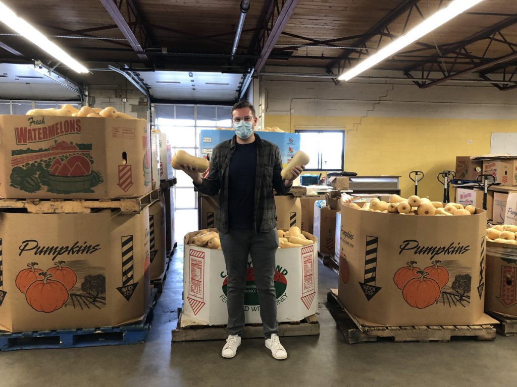 Ben Sigel 20BBA shares the bounty of local farms with those in need through his entrepreneurial venture Central MA Food Rescue.