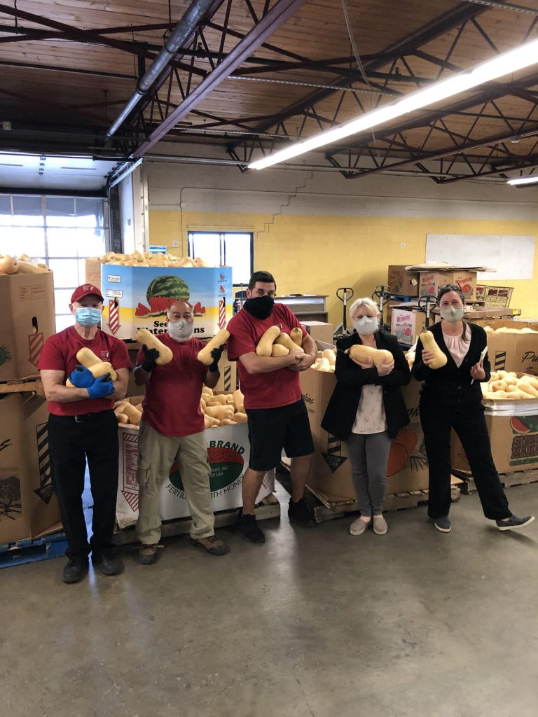 It takes a solid team: Central MA Food Rescue volunteers stand ready to get food to people in need.