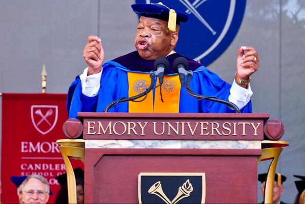 John R. Lewis speaking at Emory University