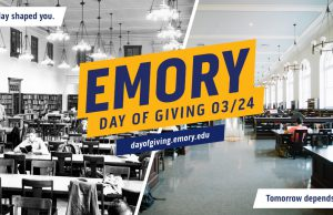 Get Ready! March 24 is Emory Day of Giving 2021