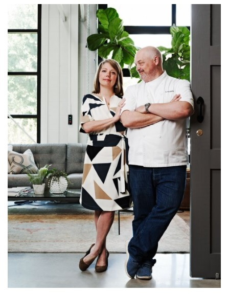 Chef Linton Hopkins 92C, pictured here with his wife and business partner Gina. Gina Hopkins is a certified sommelier with a passion for hospitality, leadership, and interior design. Chef Linton Hopkins holds a James Beard Award for Best Chef Southeast and numerous other accolades for excellence in cuisine and hospitality.
