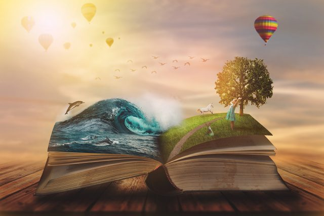 A magical book comes to life